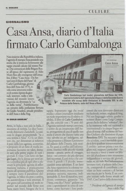 Casa Ansa, diario d'Italia firmato Carlo Gambalonga