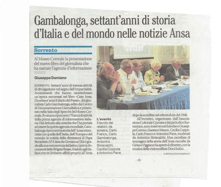 Gambalonga, settant'anni di storia d'Italia e del mondo delle notizie Ansa