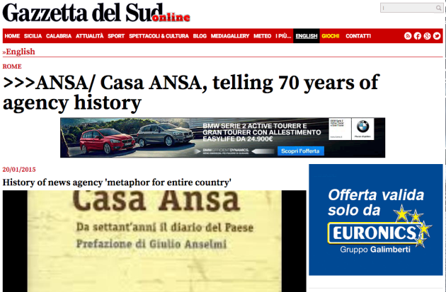 Casa Ansa, telling 70 years of agency history