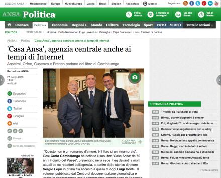 'Casa Ansa', agenzia centrale anche ai tempi di Internet