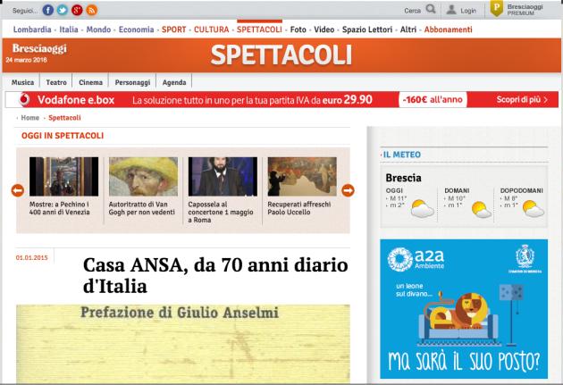 Casa ANSA, da 70 anni diario d'Italia